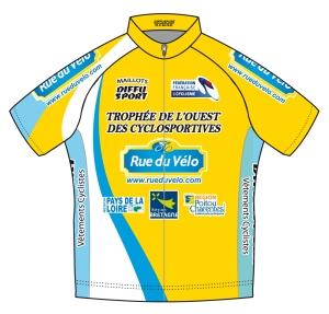 Le maillot de leader Trophée de l'Ouest-Rue du Vélo