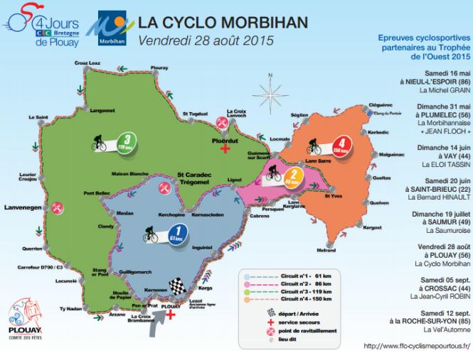 Affiche la Cyclo Morbihan